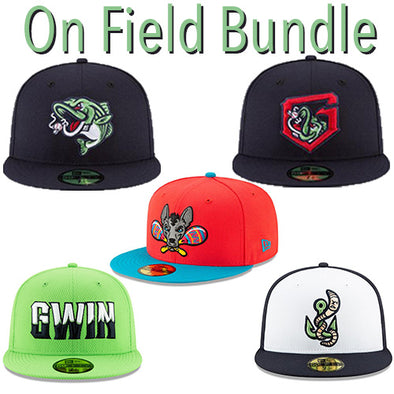 Gwinnett Stripers On Field Cap Bundle- 5 Pack