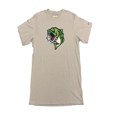 Gwinnett Stripers Columbia Solarshield Cap Logo Short Sleeve Tee- Gray