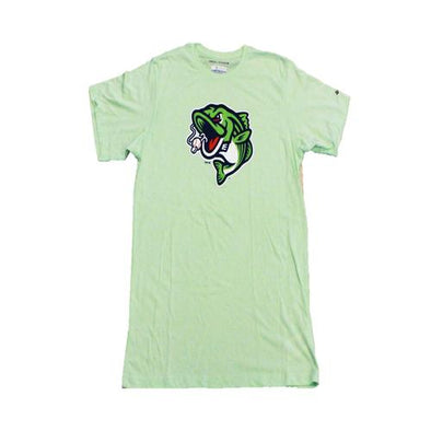 Gwinnett Stripers Columbia Solarshield Cap Logo Short Sleeve Tee- Keylime Green