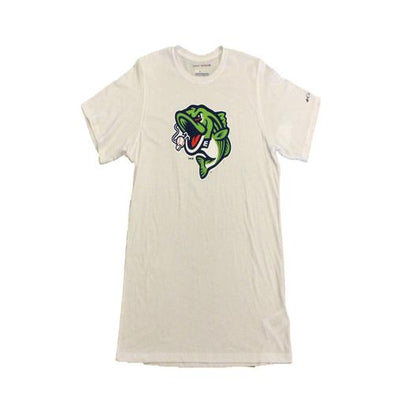 Gwinnett Stripers Columbia Solarshield Cap Logo Short Sleeve Tee- White