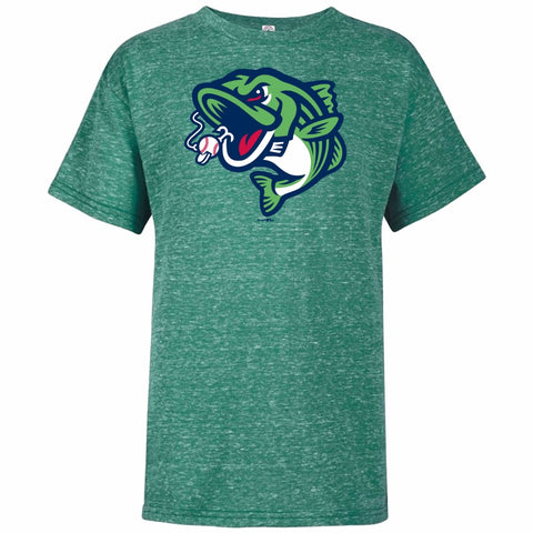 Gwinnett Stripers Bimm Ridder Youth Cap Logo Tee- Kelly Green