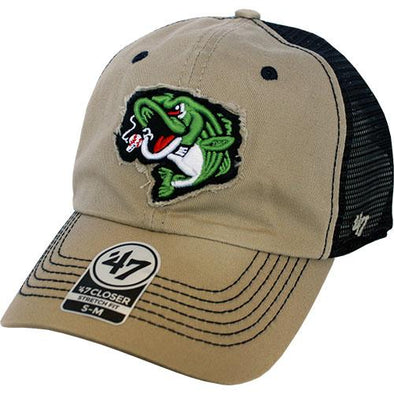 Gwinnett Stripers '47 Khaki Taylor  Closer Cap