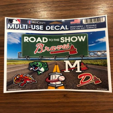Atlanta Braves Road to Show Decal