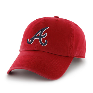 Atlanta Braves 47 Brand Script A Cleanup Cap- Red