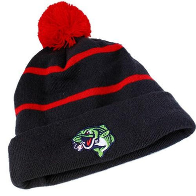 Gwinnett Stripers OC Sports Pom Knit Hat- Navy/Red