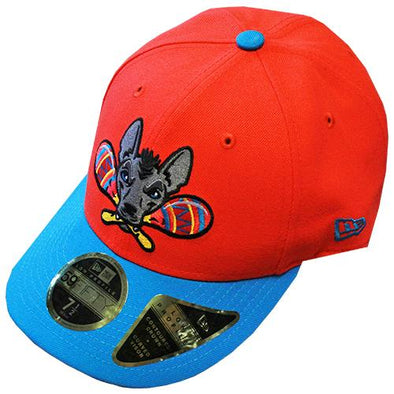 Gwinnett Stripers Xolos de Gwinnett New Era 5950 Low Profile Cap- Neon Red/Neon Blue