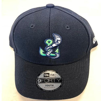 Gwinnett Stripers New Era Youth Alternate Worm Logo 940 Cap- Navy