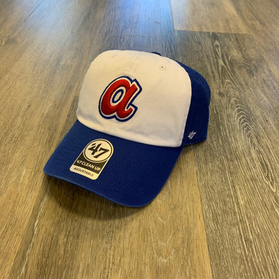 Atlanta Braves '47 Brand Cooperstown Freshman 1972 Clean Up Cap- Royal/White