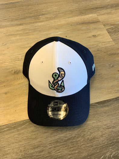 Gwinnett Stripers New Era Worm 940 Cap- White/Navy