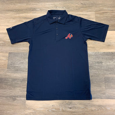 Atlanta Braves Antigua Tribute Polo- Navy