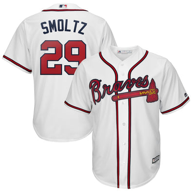 Atlanta Braves Majestic John Smoltz #29 Replica Home Jersey- White
