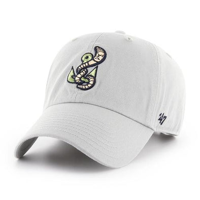Gwinnett Stripers '47 Alternate Worm Grey Clean Up Cap