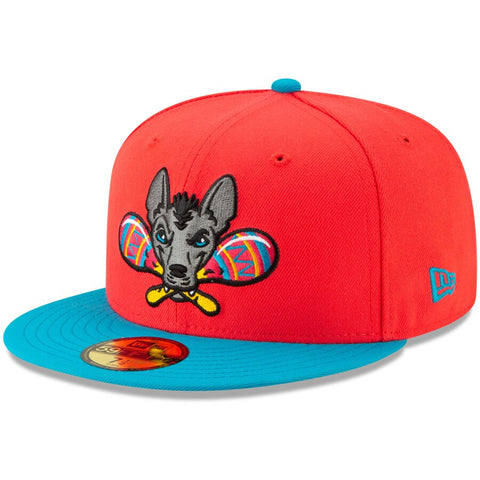 Gwinnett Stripers Xolos de Gwinnett New Era 5950 On Field Cap- Neon Red/Neon Blue