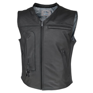 Helite Custom Leather Motorcycle Airbag Vest