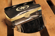 "Load image into Gallery viewer, NOS OEM YAMAHA STR-4NK58-10-00 CHROME 7"" HEADLIGHT VISOR COVER ROADSTAR + ROYAL"