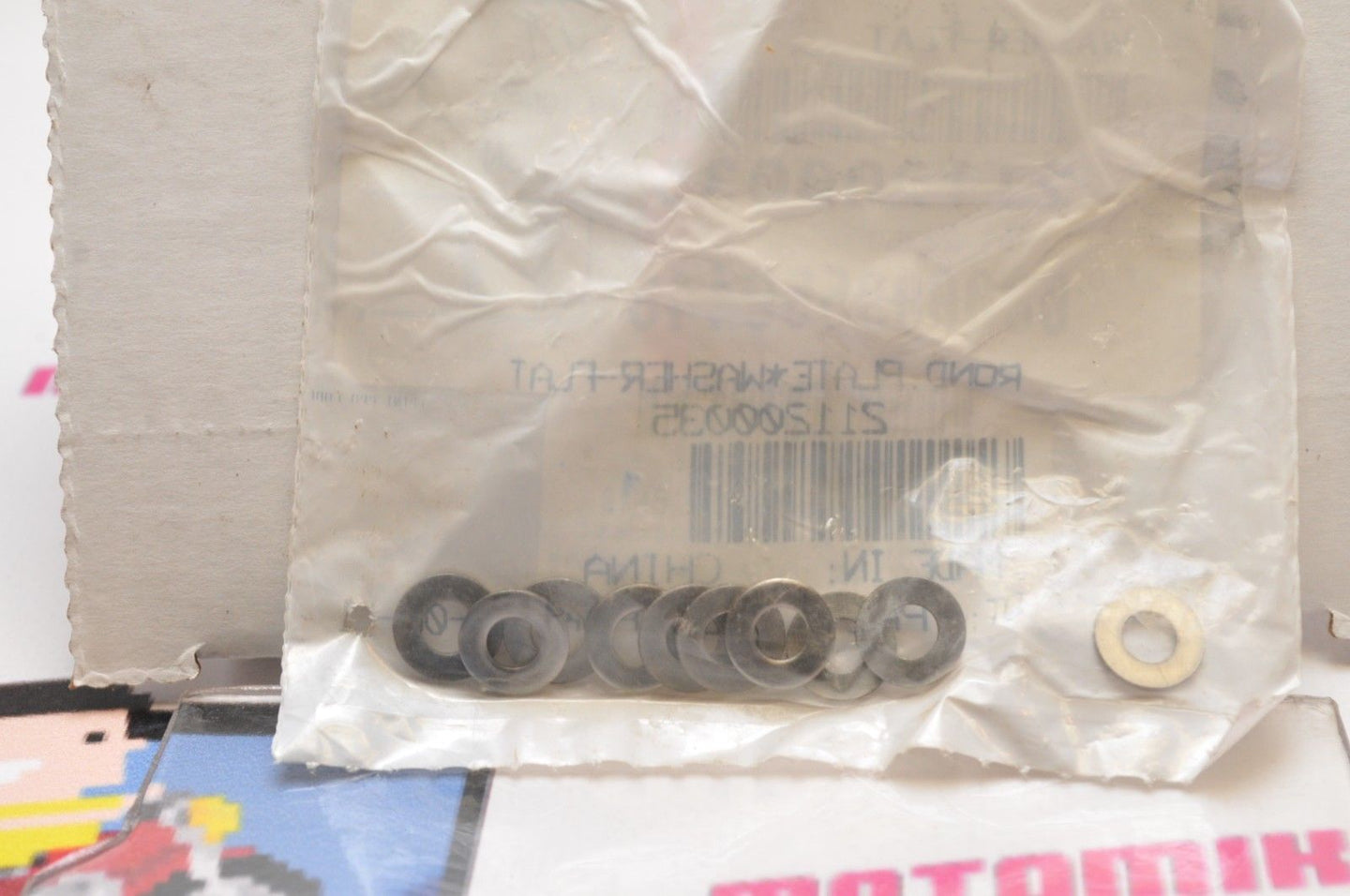NOS NEW OEM CAN-AM 211200035 Qty:10 FLAT WASHER WASHERS SEA-DOO STAINLESS