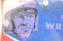 Load image into Gallery viewer, NOS VTG VINTAGE GRANT WRAP AROUND SHIELD MOTORCYCLE HELMET BLUE 242-01