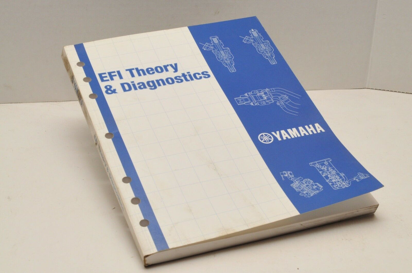 Genuine YAMAHA EFI THEORY DIAGNOSTICS BOOK+DISC DVD-10660-00-05 PUB.2005