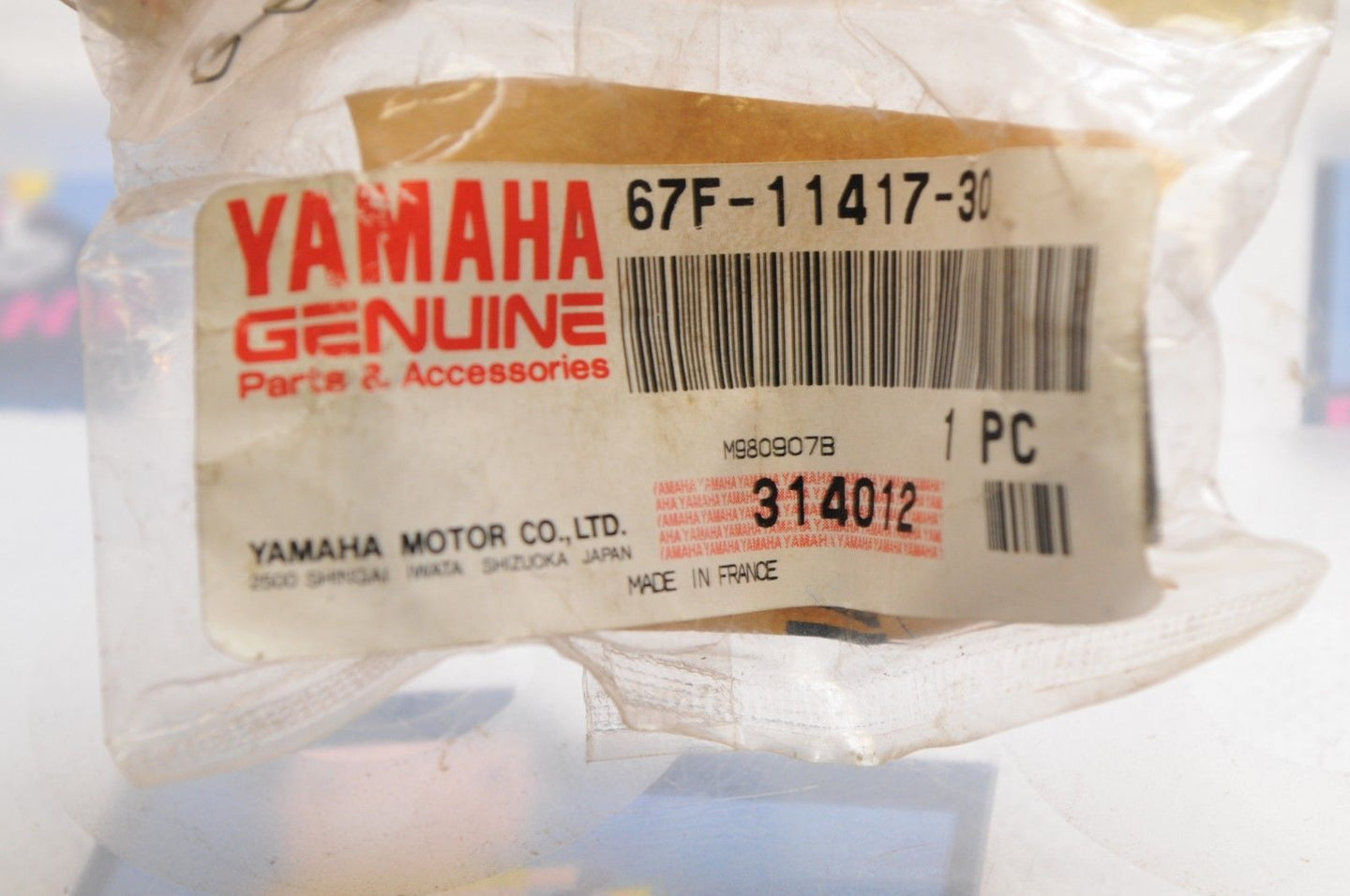 NEW NOS OEM YAMAHA 67F-11417-30-00 PLANE CRANKSHAFT BEARING RED - Motomike Canada