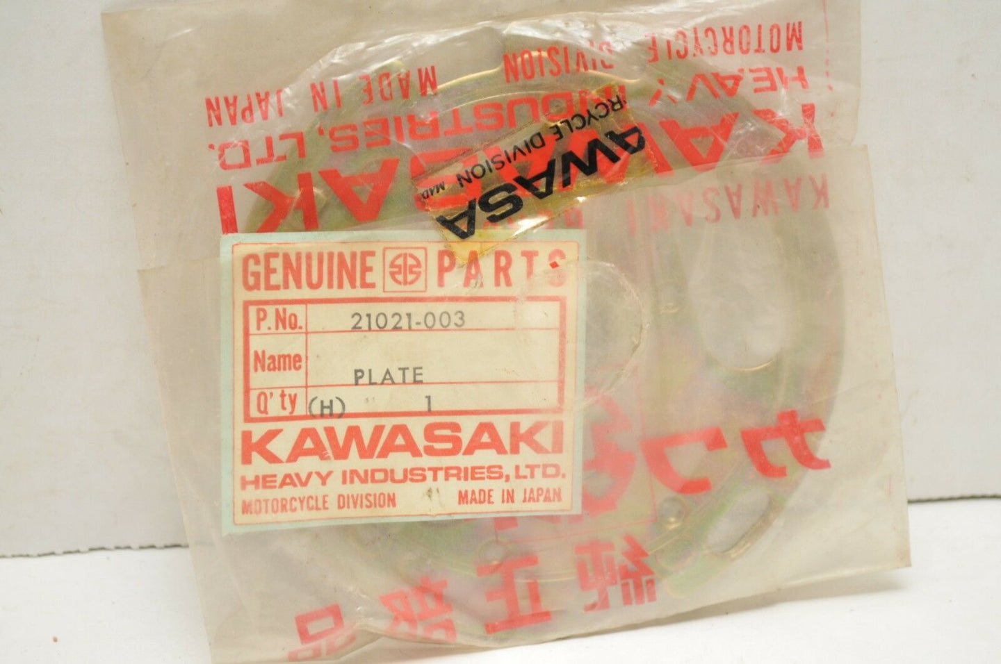 NOS GENUINE KAWASAKI 21021-003 IGNITION/BREAKER PLATE Z1 1973-74-75