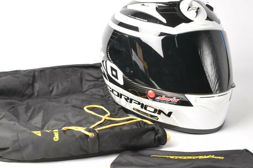 NEW Scorpion EXO-R2000 Motorcycle Helmet White/Black DOT/SNELL XL 200-7636