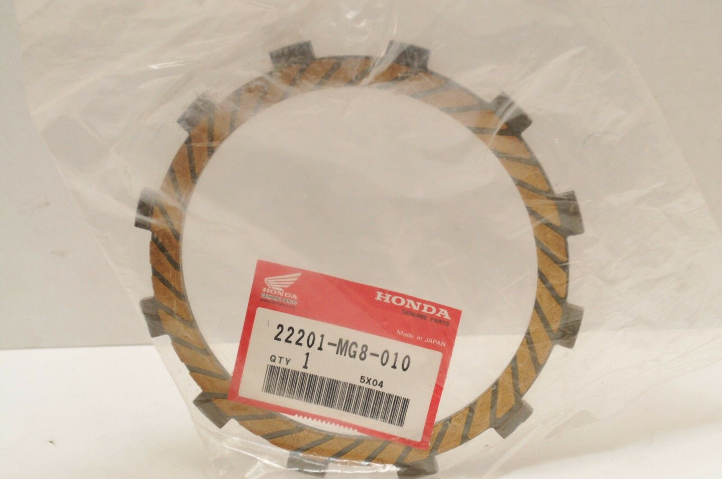 NEW NOS OEM HONDA CLUTCH FRICTION DISC 22201-MG8-010 VT1100C VT750C VT700C ++