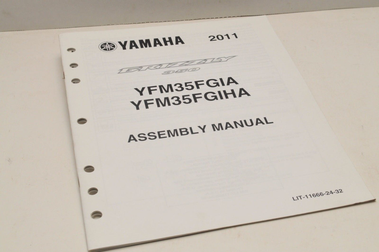 Genuine Yamaha ASSEMBLY SETUP MANUAL YFM35FGIA GRIZZLY 350 2011 LIT-11666-24-32