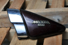 Load image into Gallery viewer, GENUINE YAMAHA SIDE COVER LEFT 5K5-21711-00-7J - RUBY RED, MAXIM 550 W/CHROME