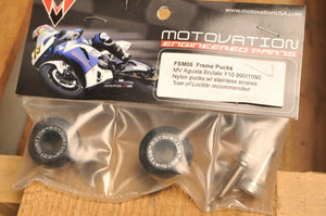 MOTOVATION ENGINEERED PARTS - FSM06 NYLON PUCKS -FRAME- MV AGUSTA BRUTALE 2010