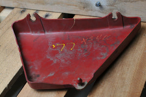 GENUINE YAMAHA SIDE COVER RIGHT XS400 XS 400 1977 1L9-21721-00-63 CARMINE RED