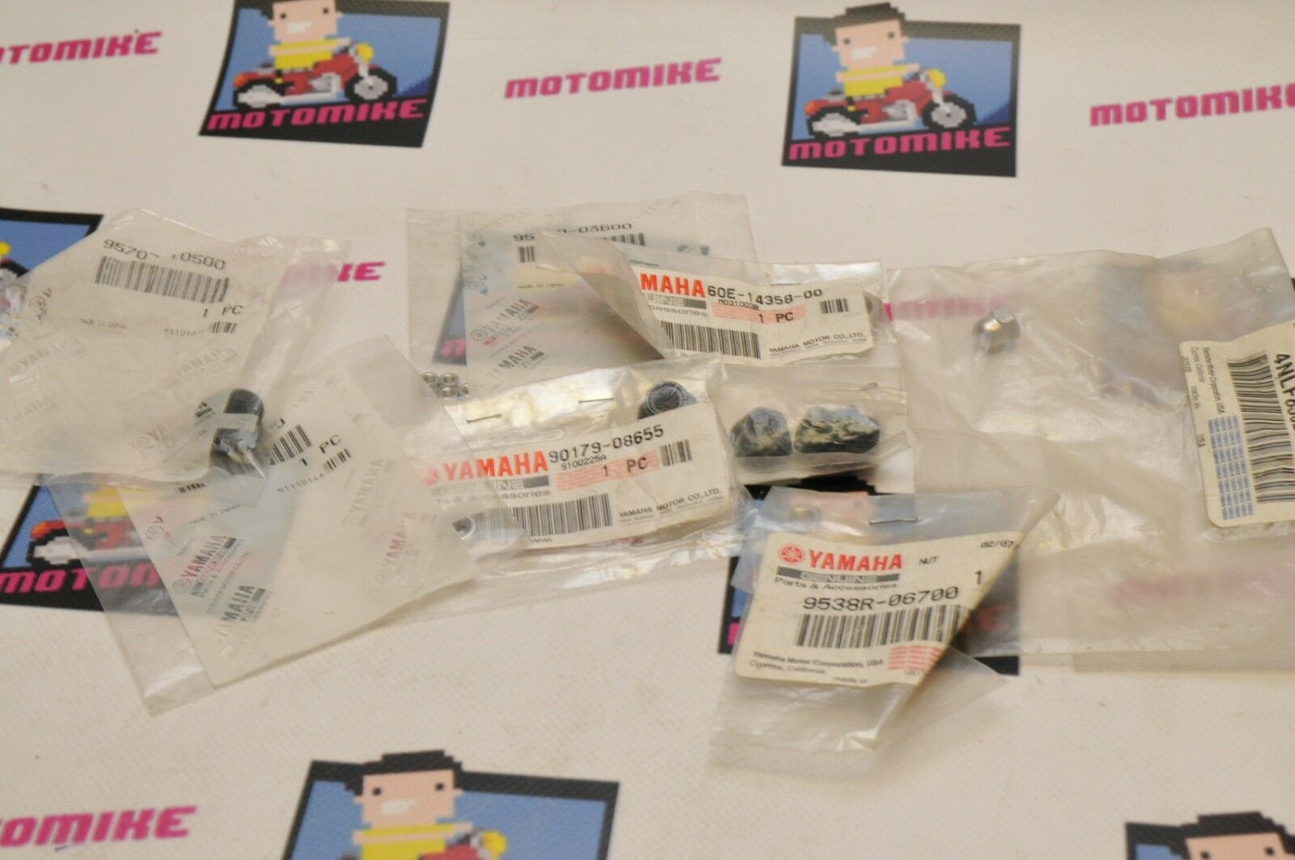 NEW NOS OEM YAMAHA LOT OF NUTS  - MULTIPLE STYLES, SEE LISTING Qty:14