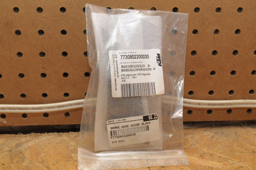 NEW GENUINE KTM BRAKE HOSE GUIDE BLACK 7730802200030