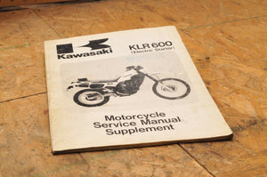 Kawasaki Factory Service Manual SUPPLEMENT Shop KLR600 1985 Part # 99924-1063-51