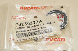 NEW OEM DUCATI 70250222A BEARING, (TIMING BELT) MONSTER  S4R 748 ST4 S