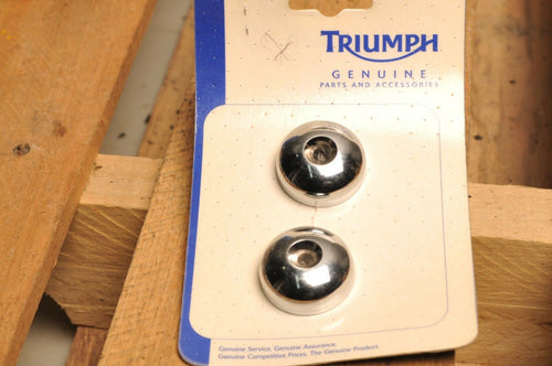 NOS OEM TRIUMPH A9738169 CHROME BAR END WEIGHT KIT - THUNDERBIRD 2011-2015