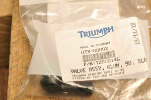Genuine OEM Triumph T2000145 Valve,Tire,Aluminum 90 DEG. Speed Triple /R