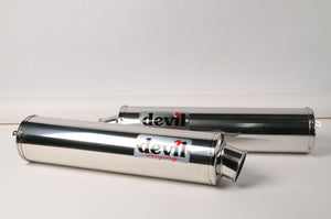 NEW Devil Exhaust - Stainless Trophy mufflers silencer Slip On Left+Right PAIR!