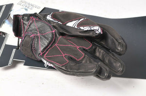 Five Stunt Replica Flower Shorty Women's Motorcycle Gloves Large L/10 555-03911