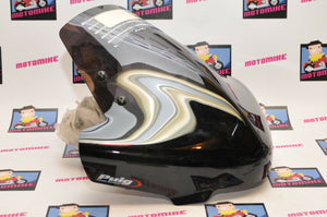 PUIG 4953F Naked New Generation Acrylic Windshield Dark Smoke DEALER DEMO PART