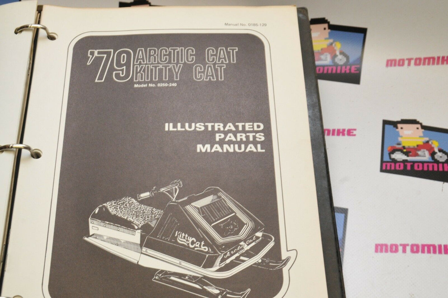 Genuine ARCTIC CAT Factory ILLUSTRATED PARTS MANUAL - 1979 KITTY CAT  0185-129