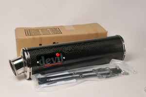 NEW Devil Exhaust- 58315 Carbon Magnum muffler silencer can pipe Bolt On