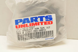 PARTS UNLIMITED FRONT SPROCKET - 1212-0327 - 525/16 -- HONDA SHADOW VT750 750