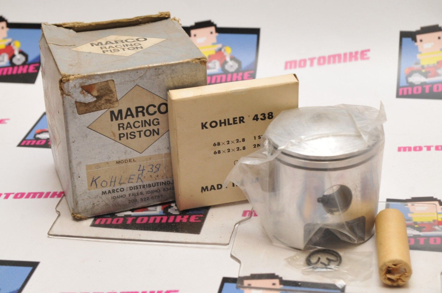 NOS New Old Stock MARCO RACING Piston KOHLER 438 +20 - Motomike Canada