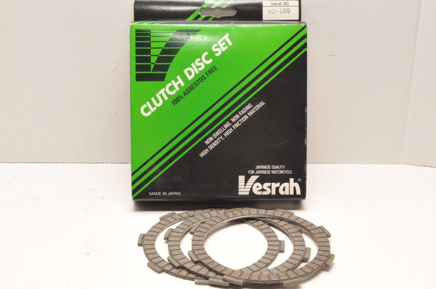 Vesrah Friction Plates for HONDA XR80 79-84 OEM Replacement Clutch Disc Set