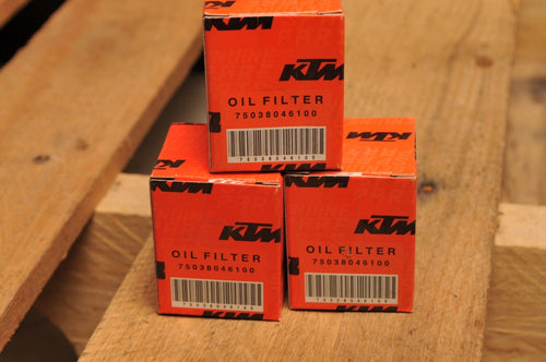 GENUINE KTM 75038046100 Qty:3 THREE OIL FILTERS - SHORT - 690 DUKE ENDURO RALLY+
