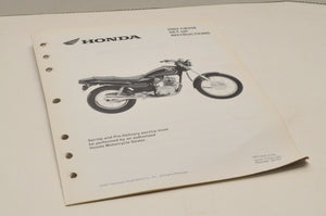 2002 CB250 NIGHTHA Genuine OEM Honda Factory SETUP INSTRUCTIONS PDI MANUAL S0107