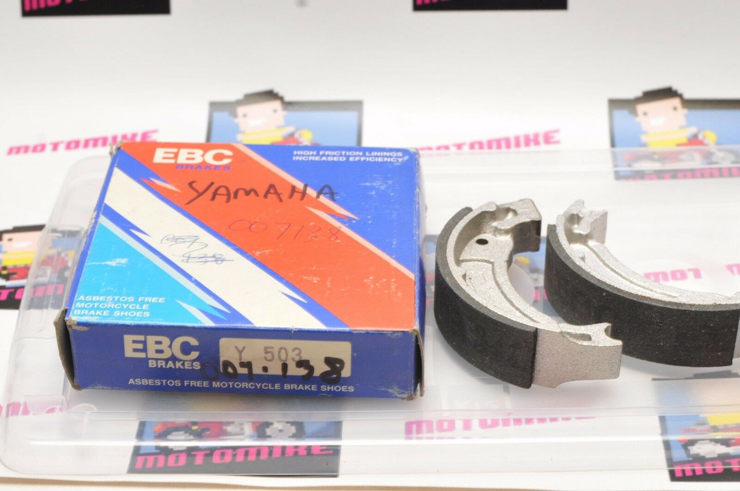 NEW GENUINE EBC Brakes Y503 Y 503 YAMAHA BRAKE SHOES  DT50 TW125 ++ - Motomike Canada