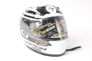DISPLAY Scorpion EXO-R2000 Motorcycle Helmet White/Black DOT/SNELL XS 200-7633