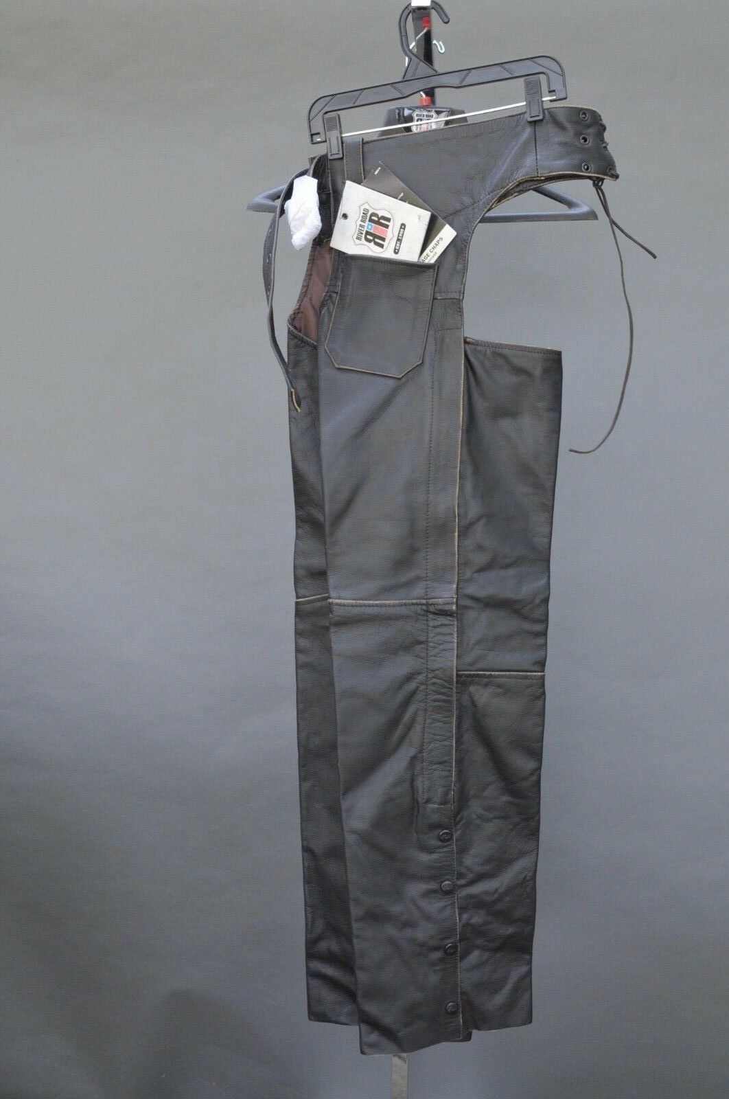 RIVER ROAD VINTAGE MOTORCYCLE BIKER CHAPS SMALL NEW