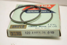 Load image into Gallery viewer, NOS OEM YAMAHA 122-11601-21-00  PISTON RING SET 0.50 OVERSIZE YG1 PW80